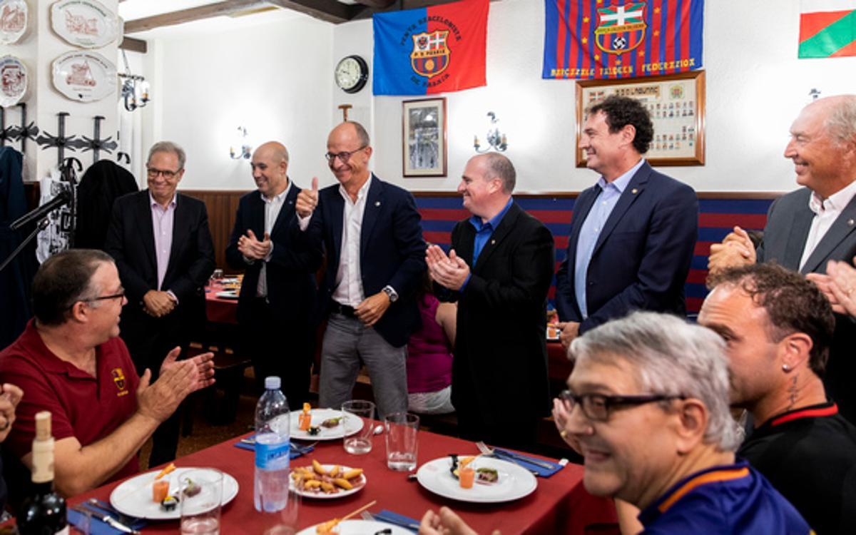 Las peñas de Euskadi celebran su IX Encuentro coincidiendo con la visita del Barça