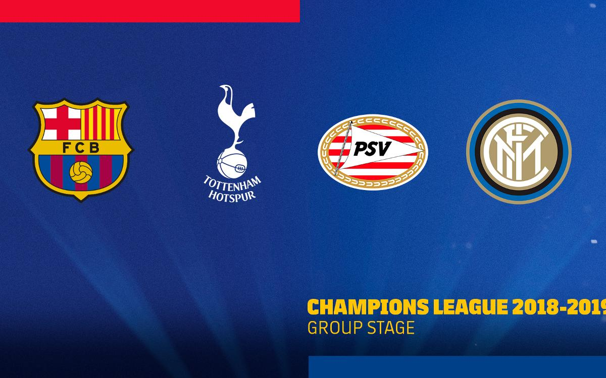 tottenham hotspur, psv and inter champions league opponents