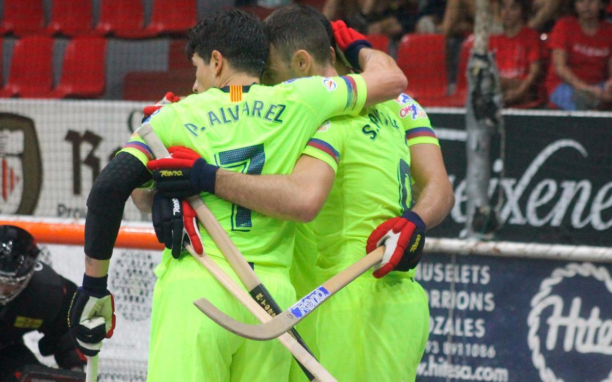 Barça Lassa - CE Noia: Triunfo luchado contra los anfitriones (3-2)