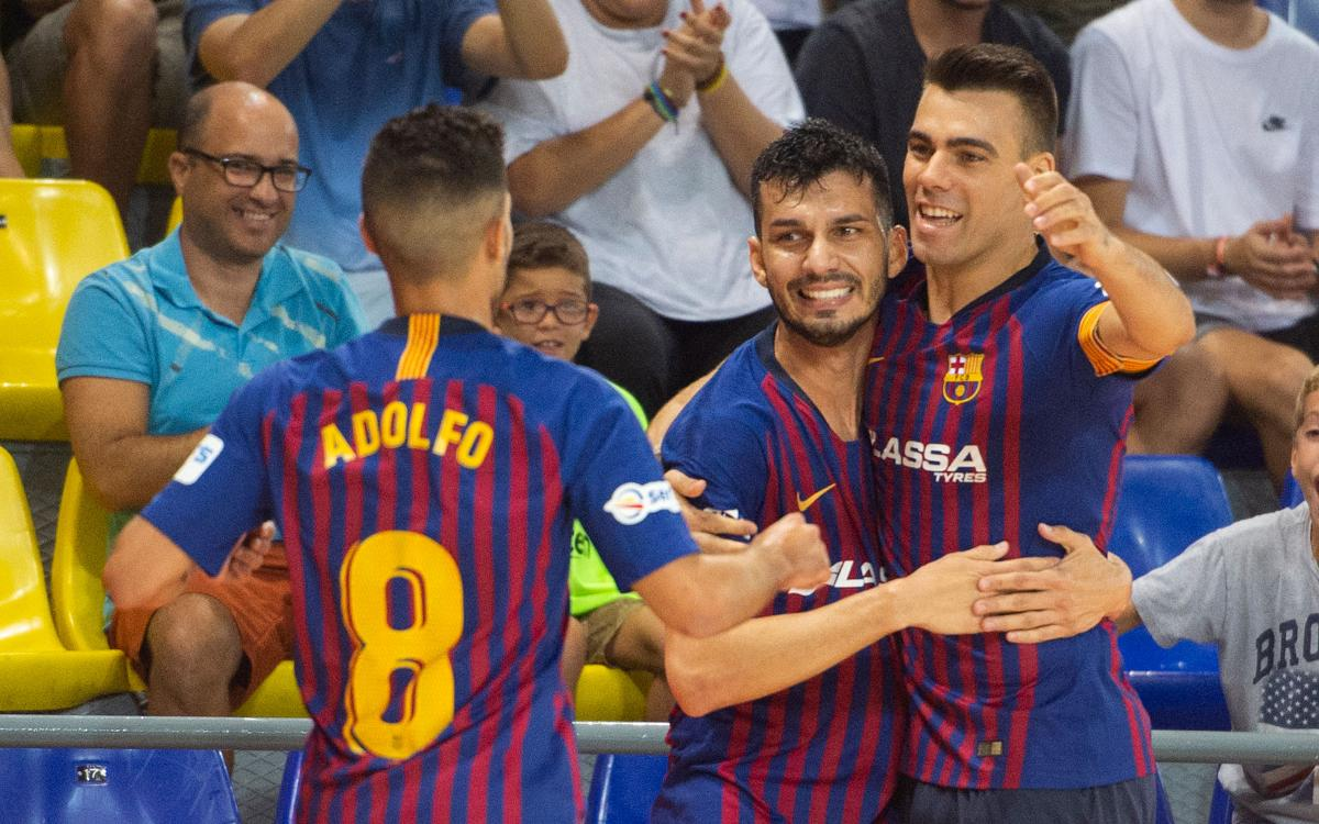 FC Barcelona Lassa 6-2 Ribera Navarra: Fine start