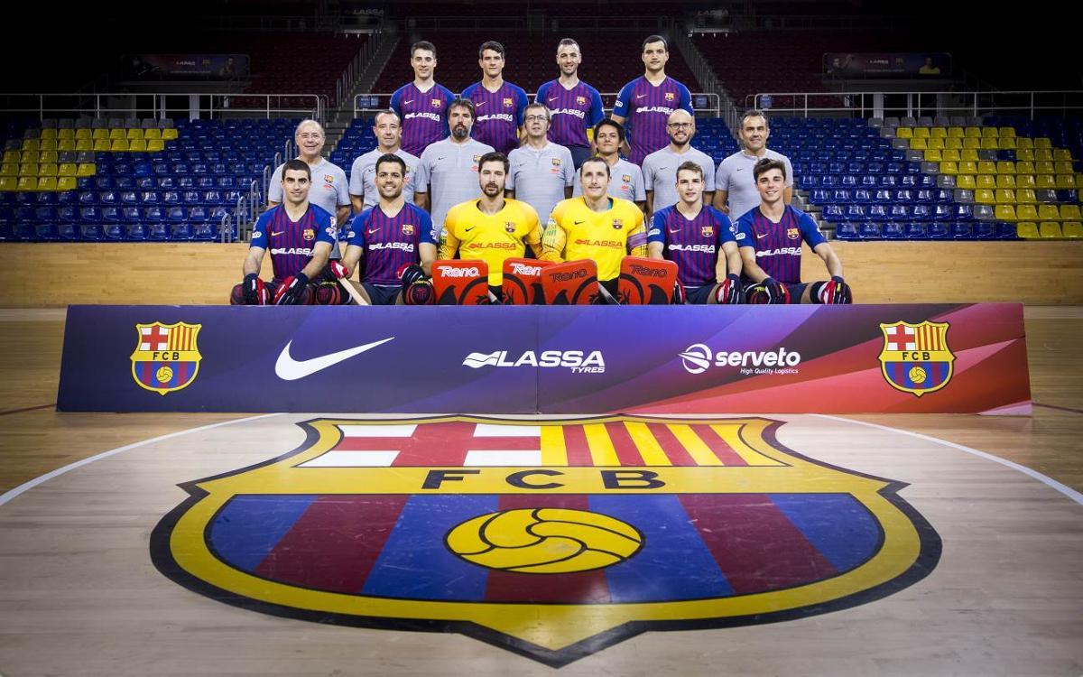 El Barça Lassa se hace la fotografía de equipo antes de afrontar tres títulos en tres semanas