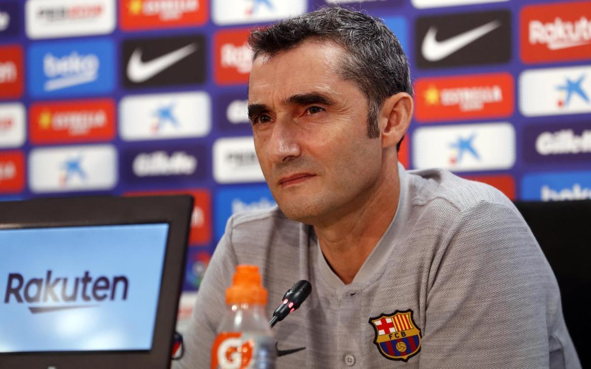 Ernesto Valverde talks Barça vs Huesca