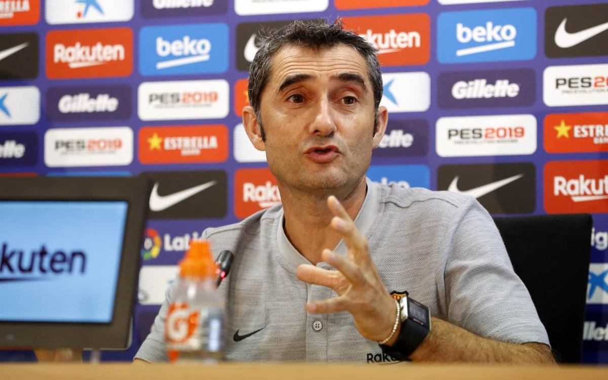 Ernesto Valverde calls Real clash 'historically difficult'