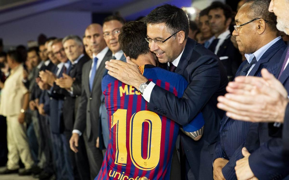 Bartomeu: 'Messi in a class of his own'