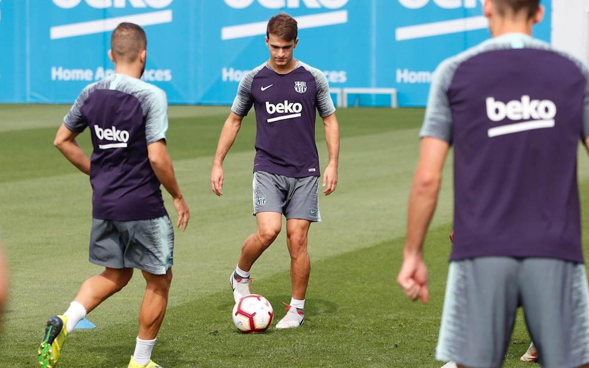 Recovery session after Huesca win