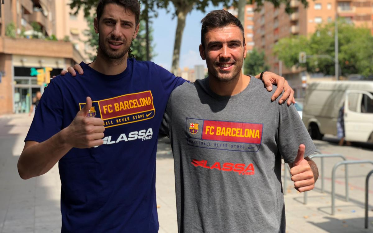 Tomic and Oriola named Barça Lassa captains