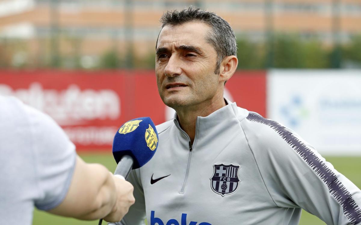"""Ernesto Valverde: """"Ens ha tocat un grup difícil a la Champions"""""""