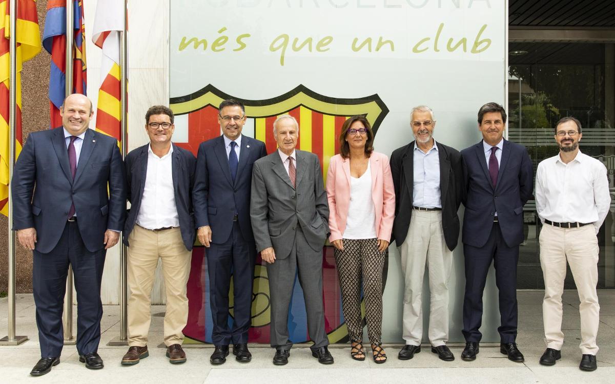 El FC Barcelona i la Fundació Ernest Lluch prorroguen el seu acord de col·laboració fins al 2020