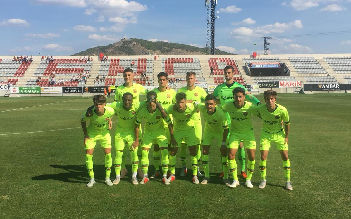 U.B. Conquense v FC Barcelona B: Hat-trick from Rafa Mujica secures second league win (0-3)