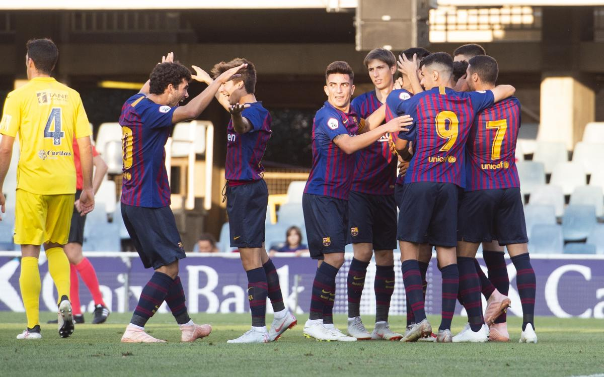 Barça B 2-1 UE Olot: First win in the Miniestadi