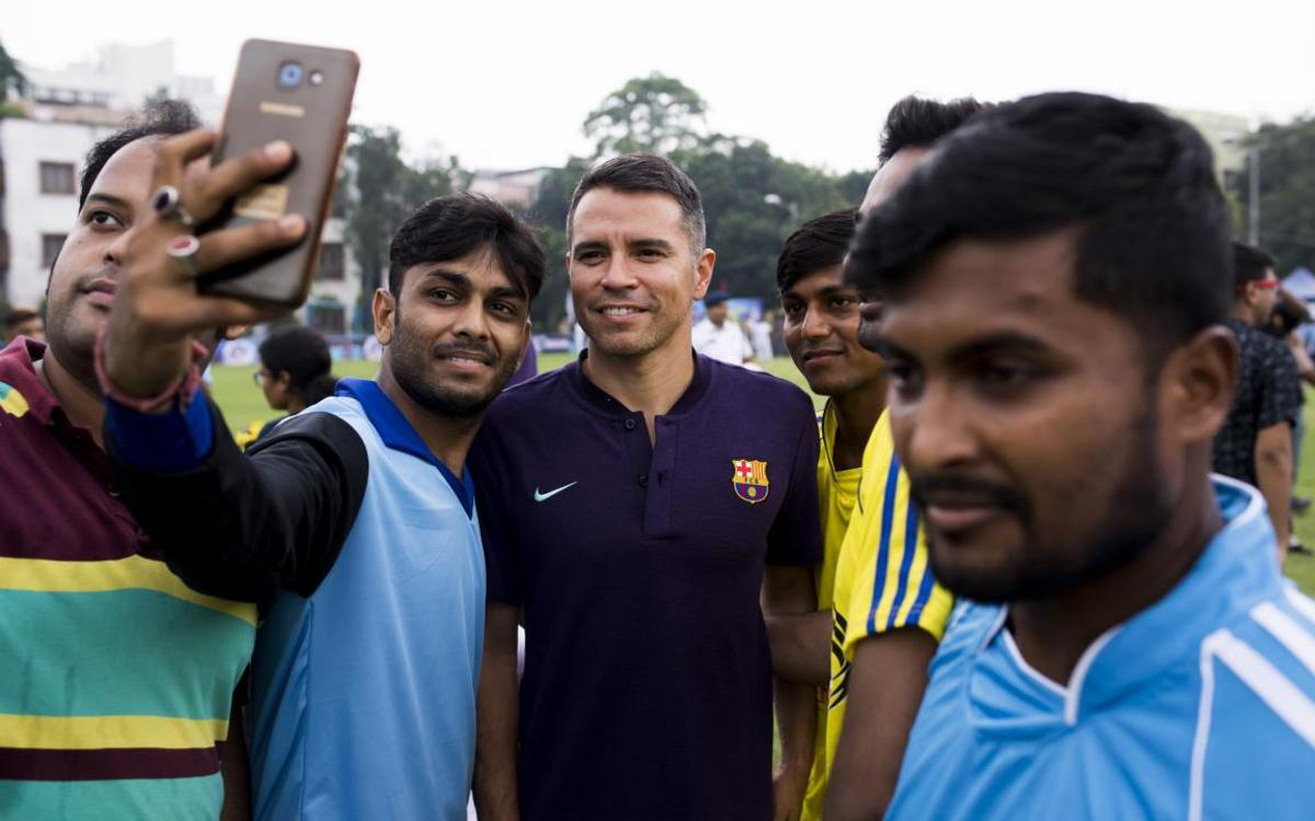 In India, Barça and Saviola work to bring football to the forefront