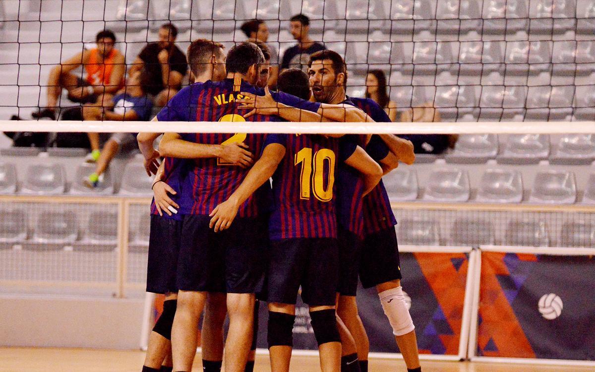 El Barça de Voleibol suma la primera victòria de la temporada