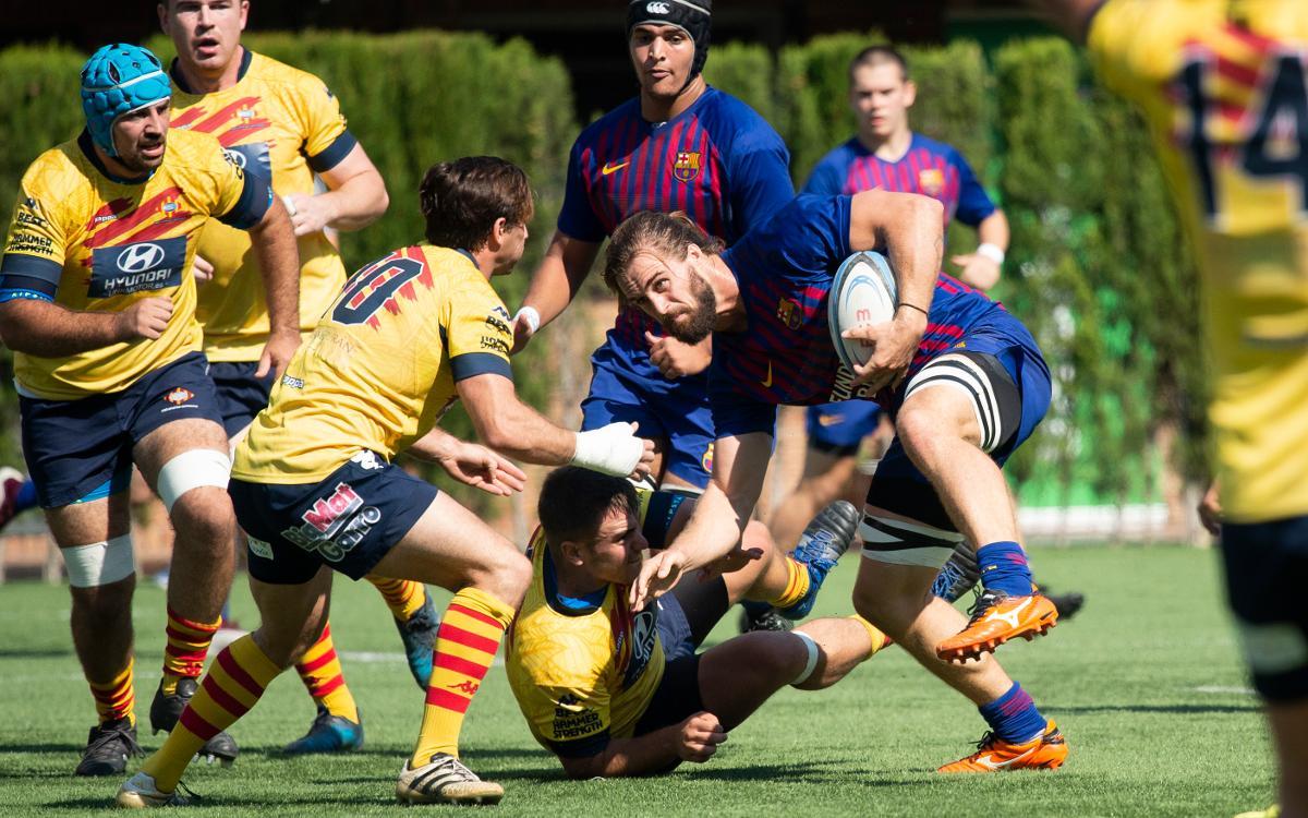 El Barça de rugby reafirma su papel de equipo puntero (26-27)