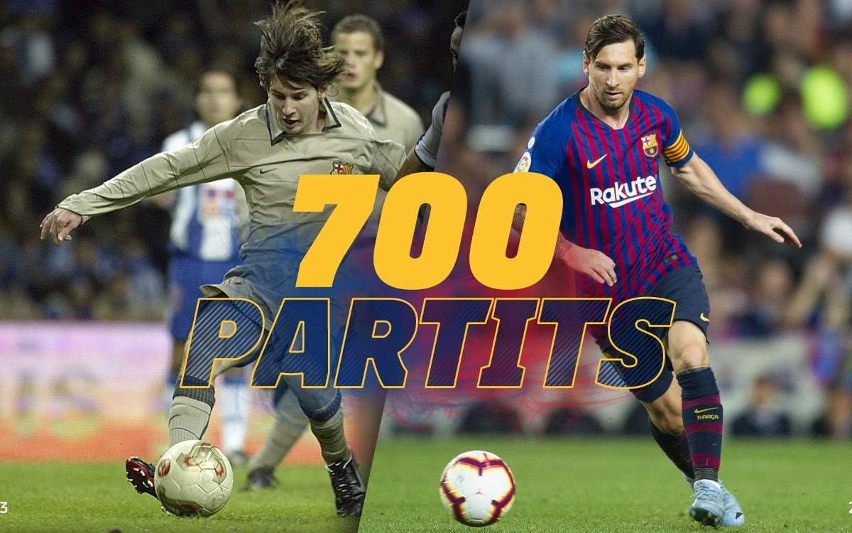 Lionel Messi, 700 partits amb el Barça