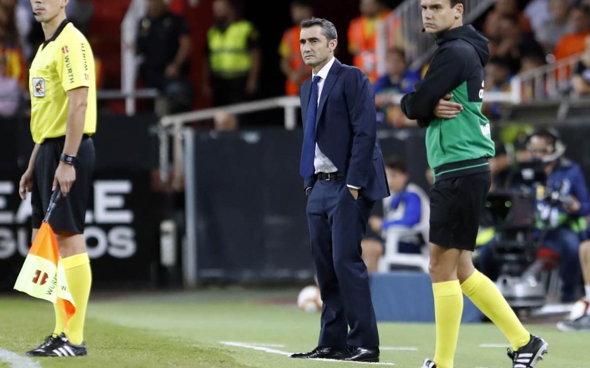 """Ernesto Valverde: """"Hemos tenido el control, pero nos ha faltado el acierto"""""""