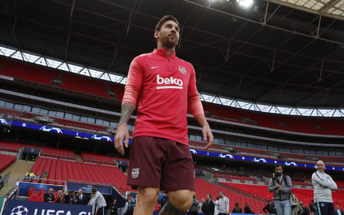 Vidéo - Prise de marques du FC Barcelone à Wembley