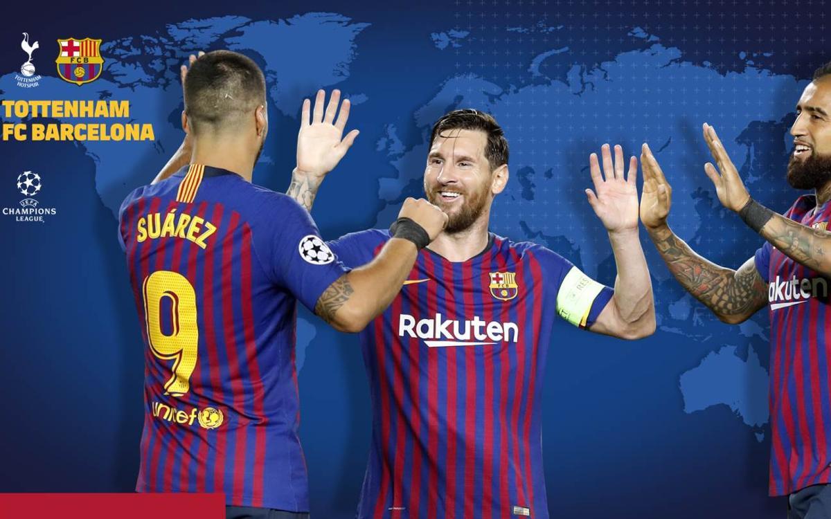 Cuándo y dónde ver el Tottenham - FC Barcelona
