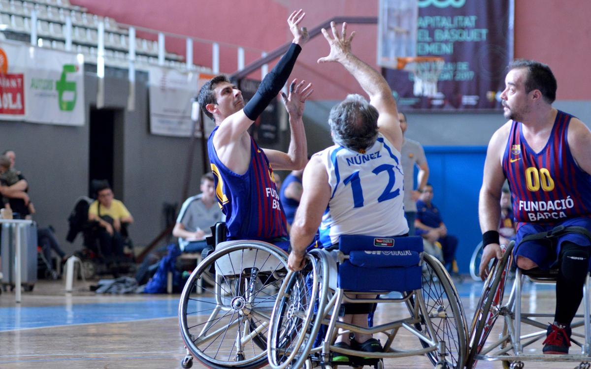 El Barça de baloncesto en silla de ruedas quiere seguir sumando victorias antes de salir de Sant Feliu