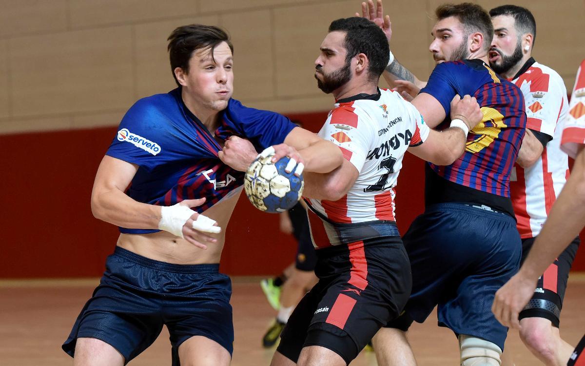 Barça Lassa B - Fertiberia Puerto Sagunto (42-38): Invictos en la Liga