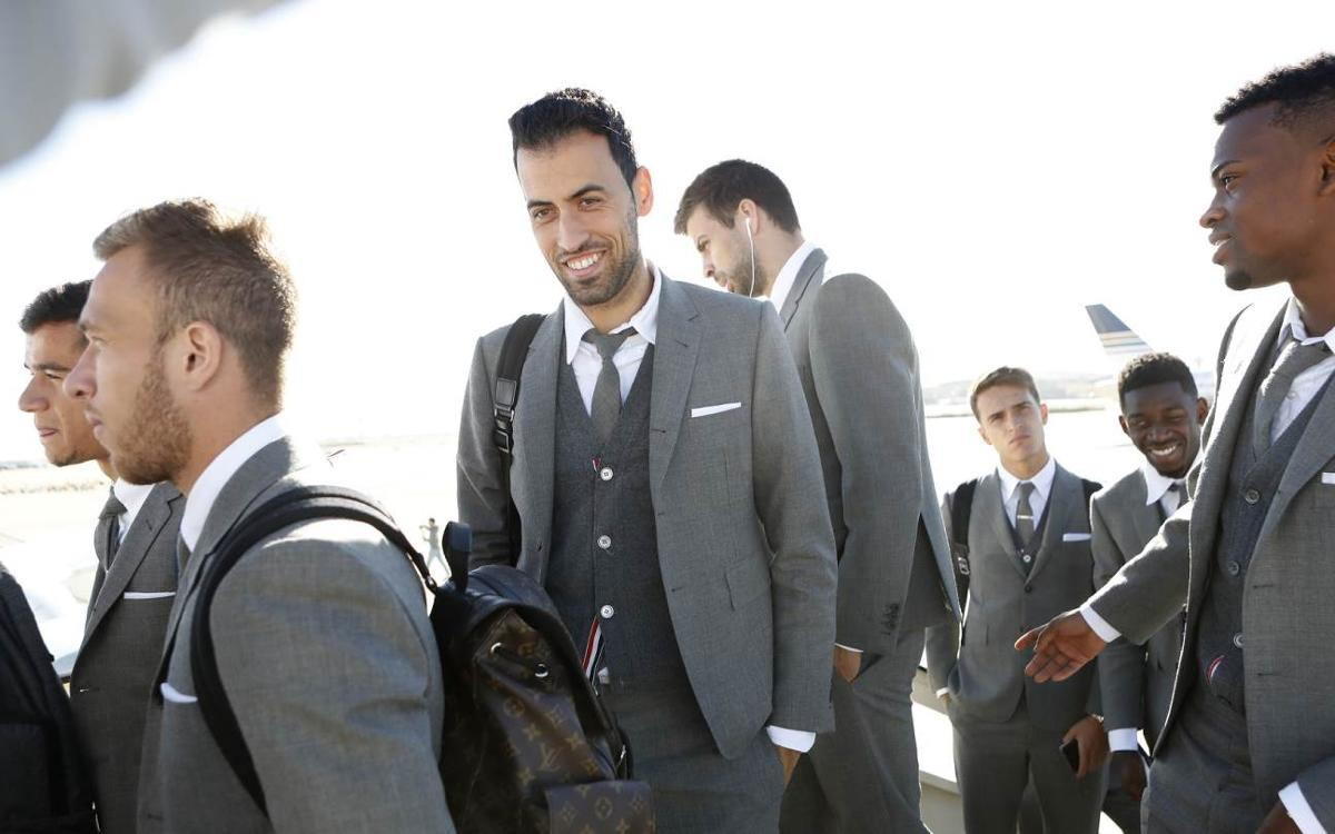 FC Barcelona debuts Thom Browne official off-field team uniforms