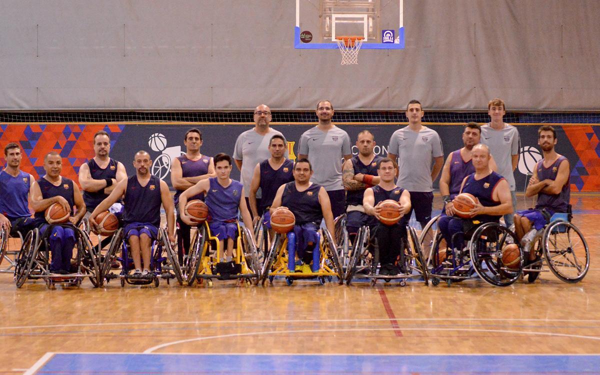 El Barça de Bàsquet en cadira de rodes estrena temporada