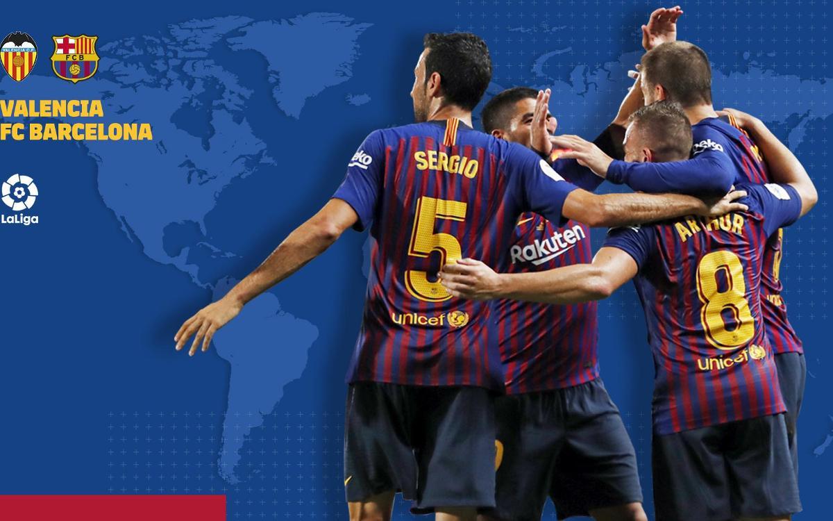 Où et quand voir Valence - FC Barcelone