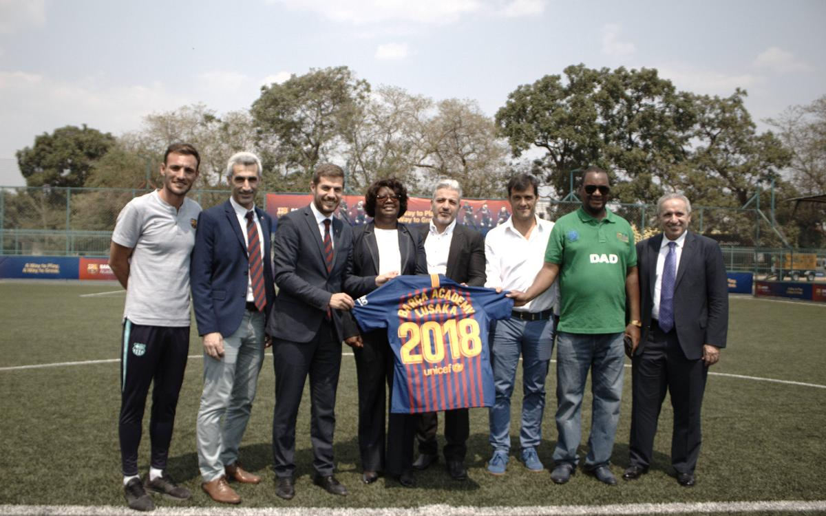 Barça Academy Lusaka opens in style