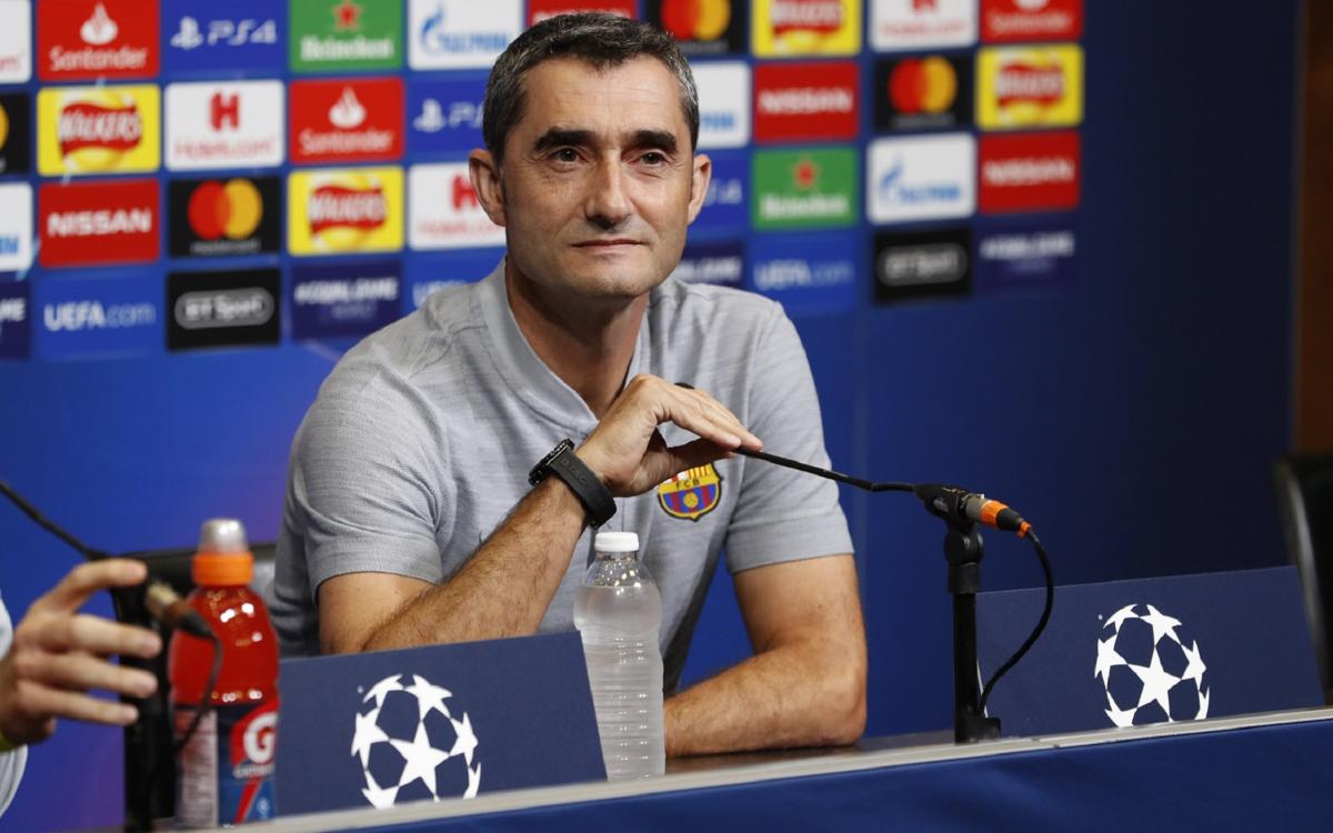 Ernesto Valverde: 'I'm sure the team will play a great match'