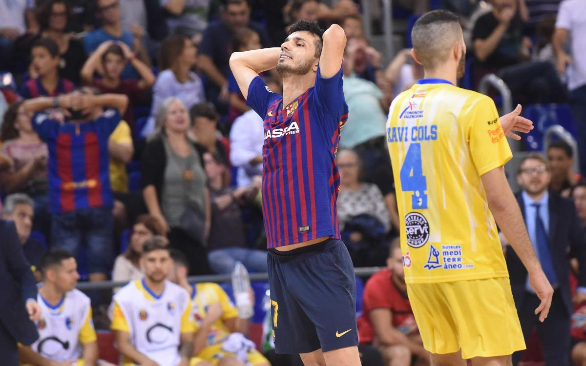 Barça Lassa – Peñíscola Rehabmedic: Slim defeat at home (1-2)