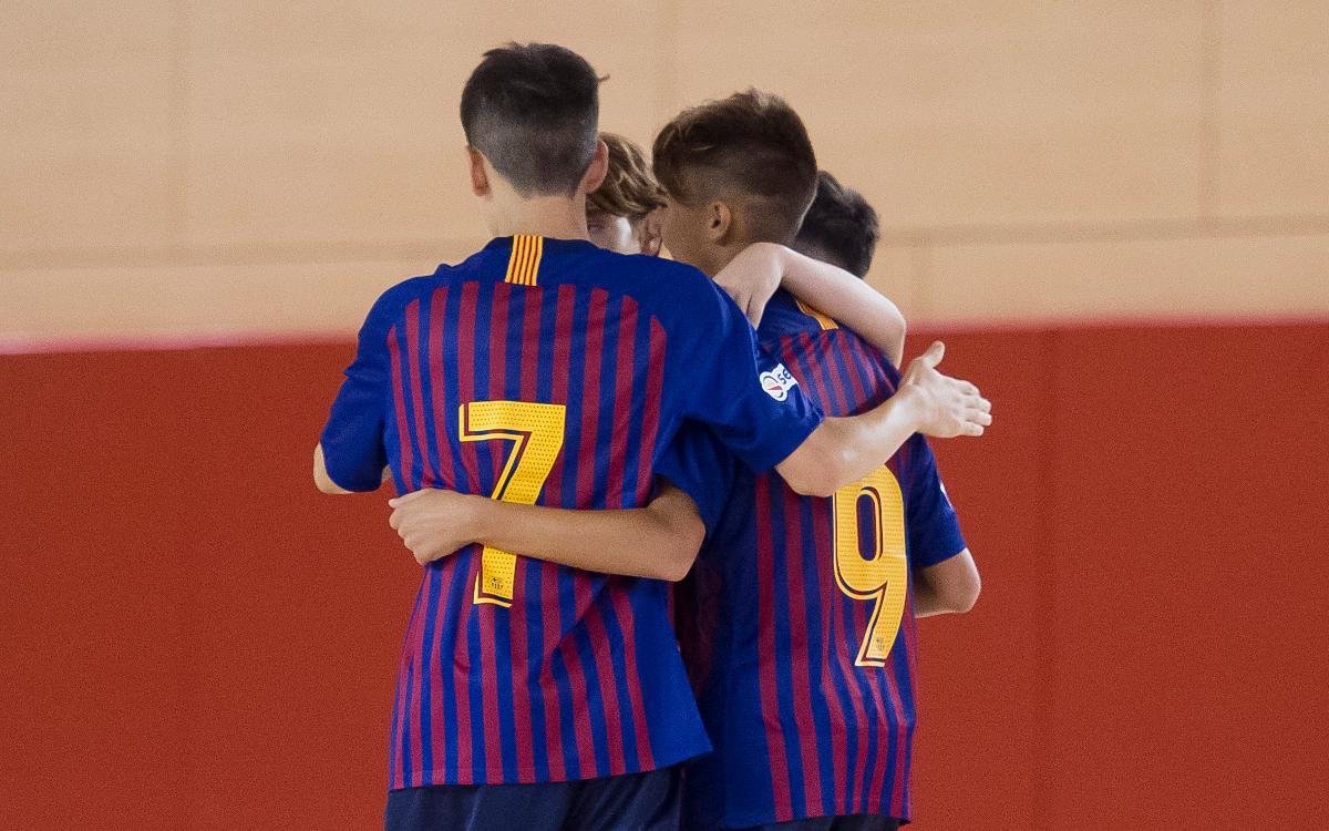 El formatiu del Barça Lassa de futbol sala, en bon camí