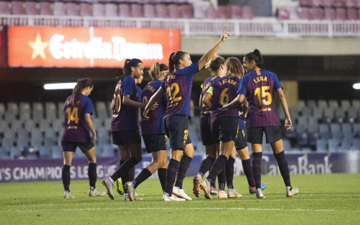FC Barcelona Femenino - Glasgow City: Noche redonda en el Miniestadi (5-0)