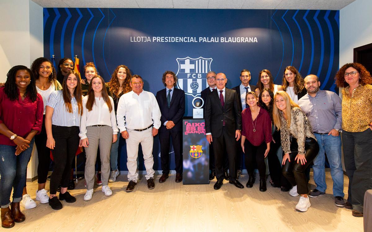 El Barça de Bàsquet femení present a la llotja del Palau Blaugrana
