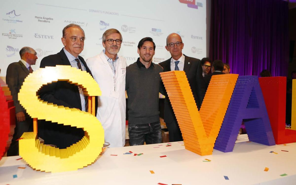 Jordi Cardoner and Leo Messi attend groundbreaking of SJD Pediatric Cancer Center in Barcelona