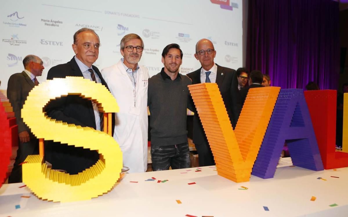 Emocionante acto de colocación de la primera piedra del SJD Pedriatric Cancer Center Barcelona