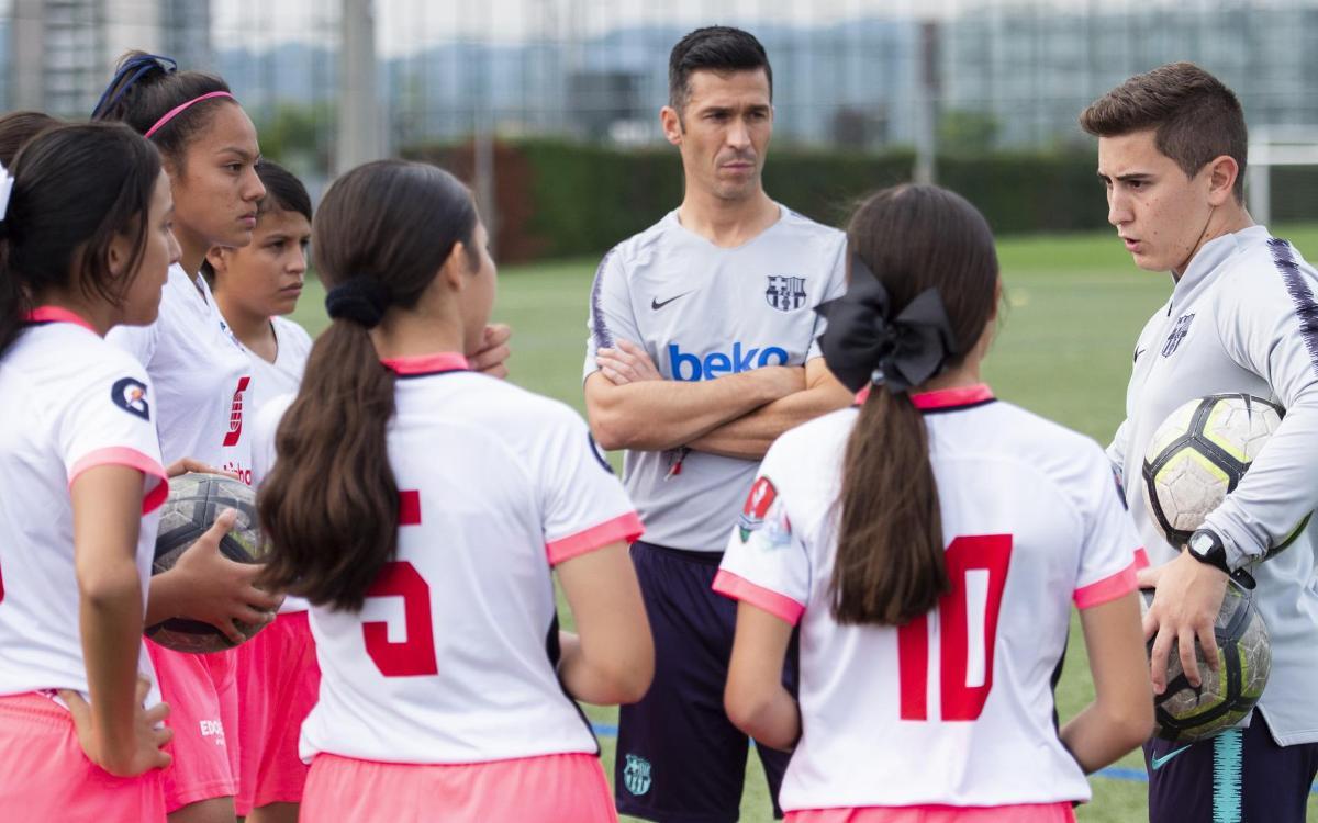 Luis Garcia, la ilusión de un grupo de niños Latinoamericanos en la Ciudad Deportiva
