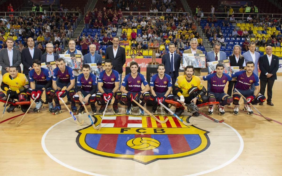 Emotivo homenaje a los primeros campeones de Europa del FC Barcelona