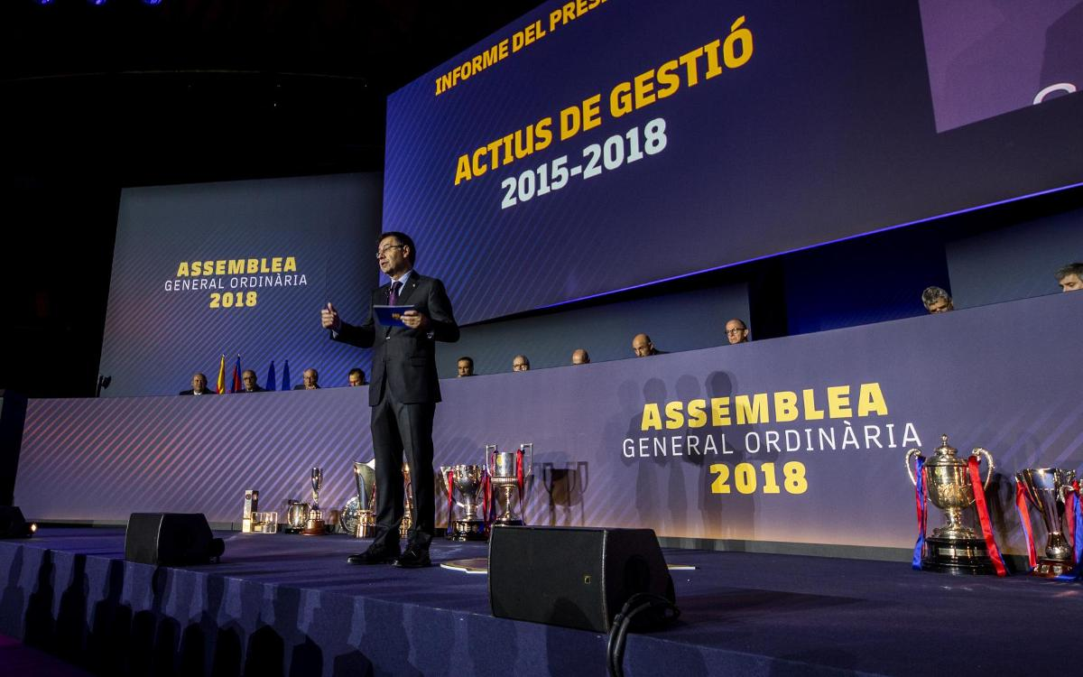 Bartomeu: 'Barça is stronger, more sustainable, more committed and more supportive than ever'