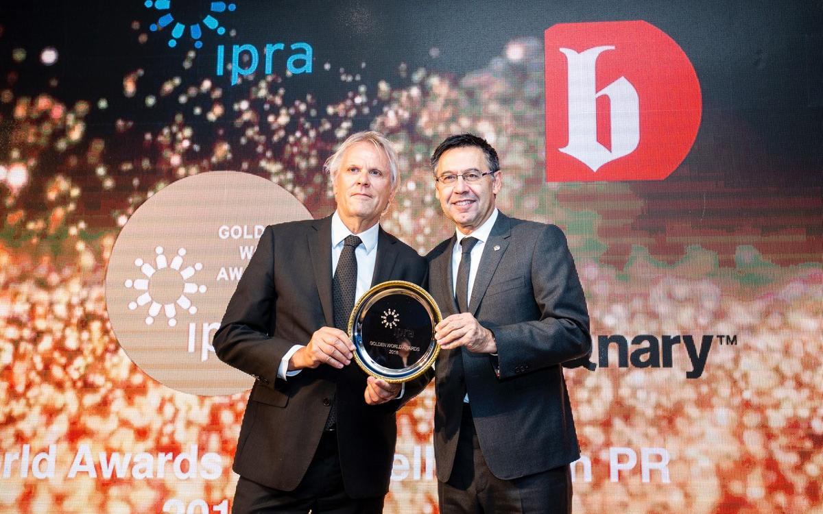 Premio al FC Barcelona por su huella social alrededor del mundo