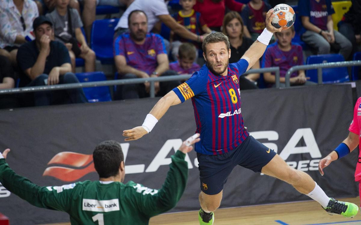 Barça Lassa - BM Blendio Sinfín: Gran victoria en el Palau para reafirmar el liderato (43-19)