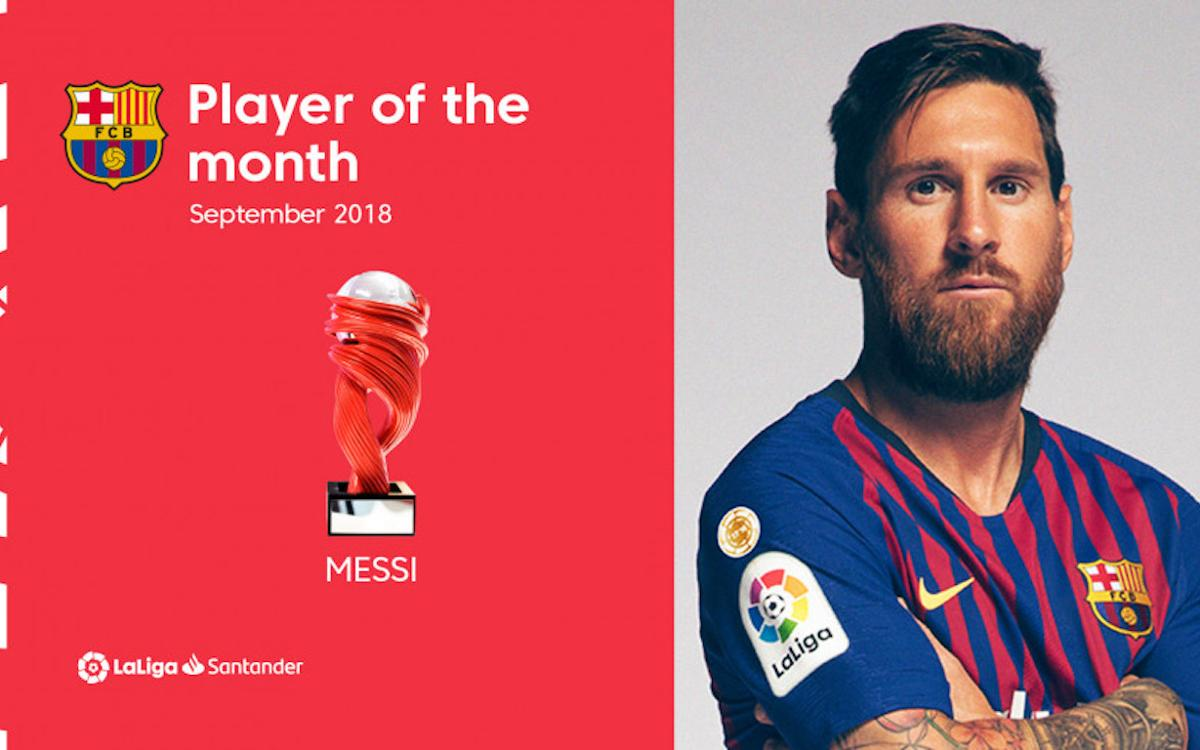 Lionel Messi named La Liga Player of the Month for September