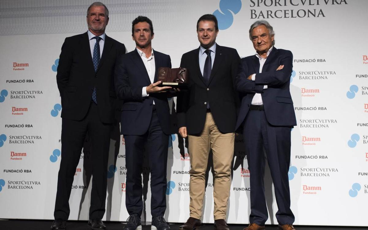 Andrés Iniesta, premi Sport Cultura Barcelona a la Millor Trajectòria