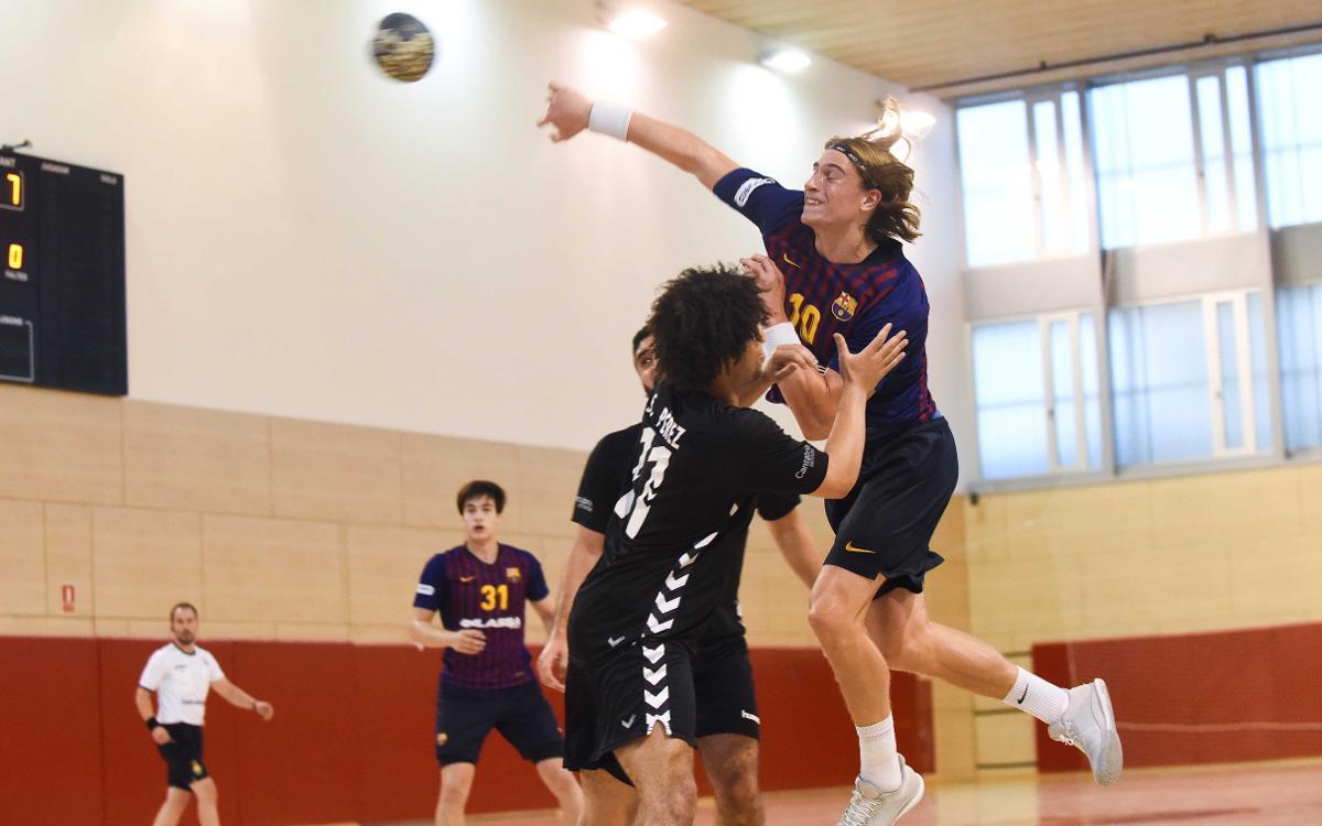 Barça Lassa B - BM Santoña (31-25): Triunfo trabajado