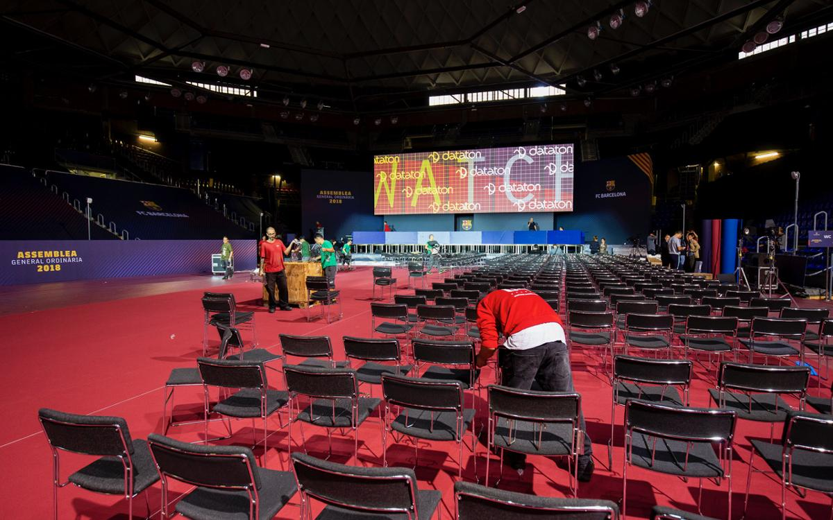 El Palau Blaugrana acoge este sábado la Asamblea General de Socios del FC Barcelona