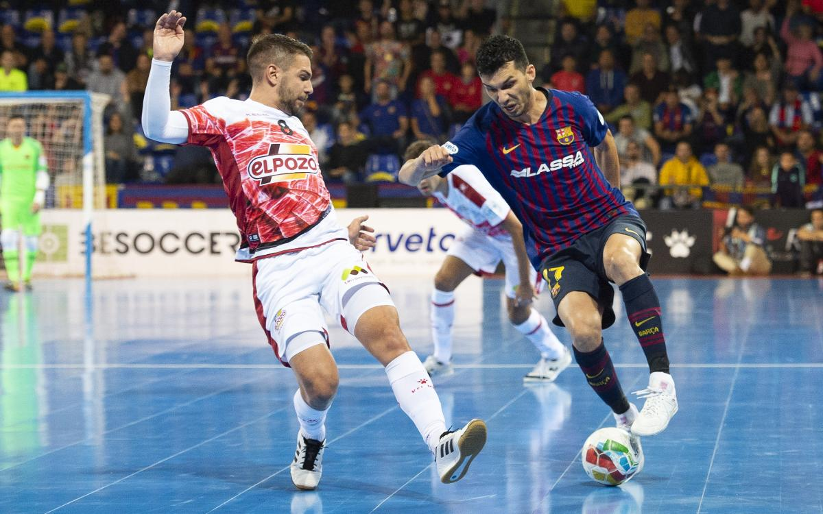 Barça Lassa 3-3 ElPozo Murcia: Honours even at the Palau