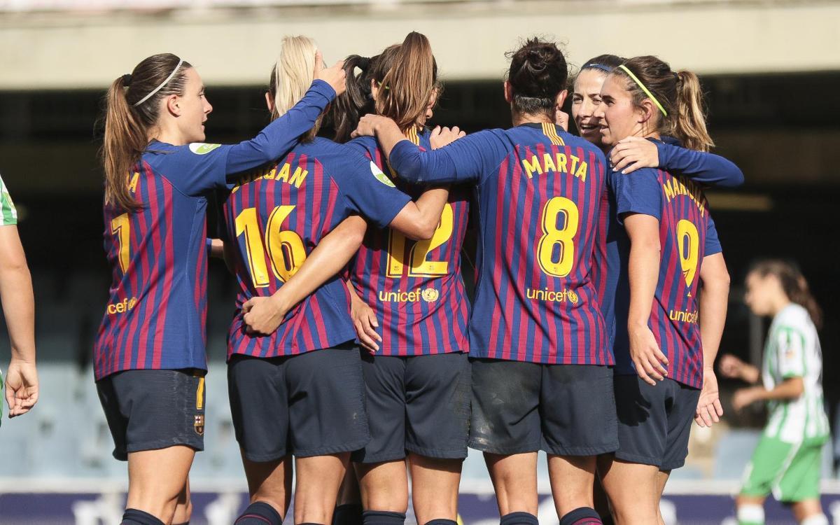 Barça Femenino – Real Betis: Nueva victoria en el Miniestadi (3-0)