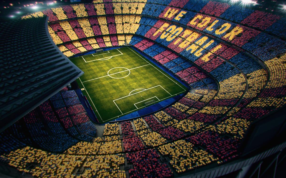 'We color football', un Clásico con mosaico reversible