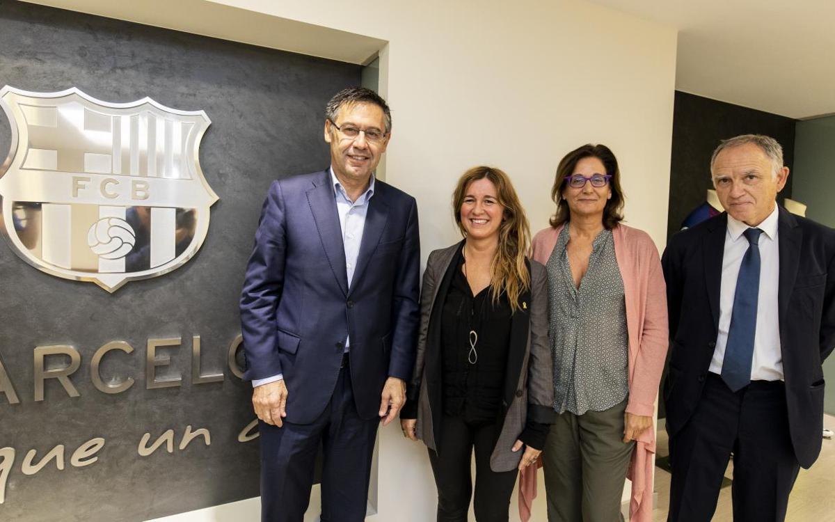 Ampliación del acuerdo entre el Barça y el Institut Ramon Llull para la proyección exterior de la lengua y la cultura catalanas