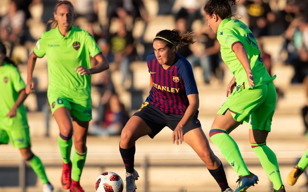Barça Femenino - Levante: Reparto de puntos (0-0)