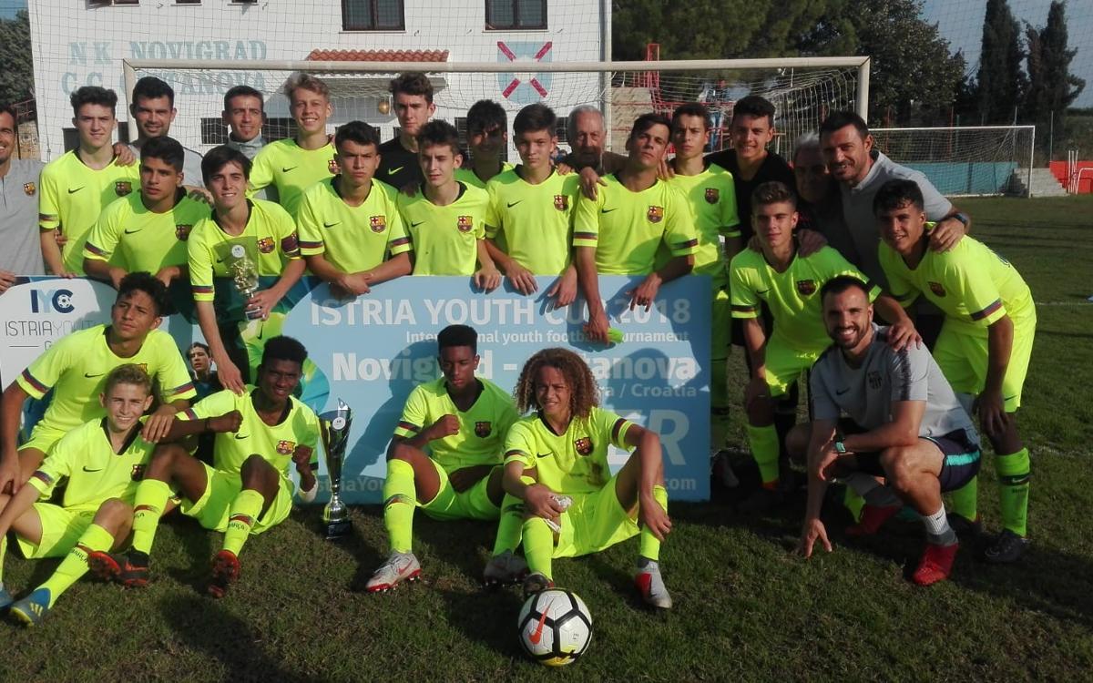 El Cadete A gana la Istria Youth Cup en Croacia
