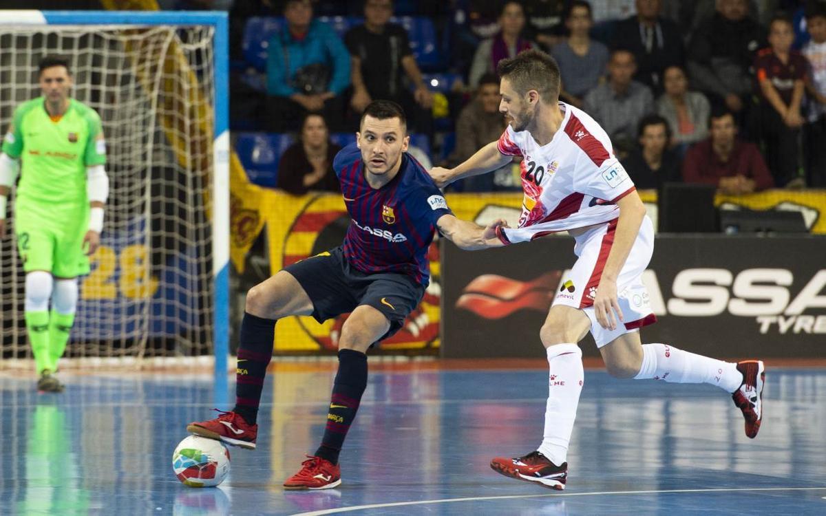Barça Lassa - ElPozo Murcia (3-3, al Palau Blaugrana a la lliga regular)